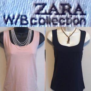Two (2) Zara WB Collection Sleeveless Tops